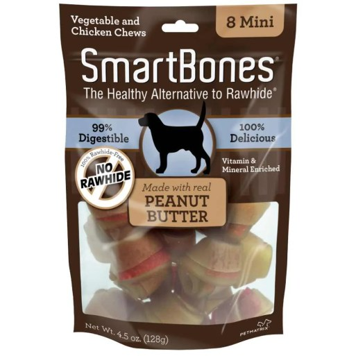smartbones peanut butter mini dog chews 8pc Healthy Bones For Puppies To Chew On