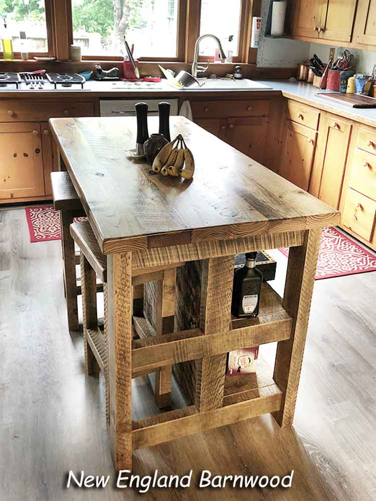 farmhouse kitchen island with seating