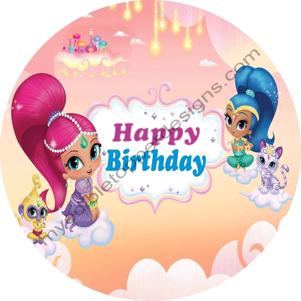 Shimmer And Shine Cake Topper Personalised Cake Toppers Patterer Home Garden
