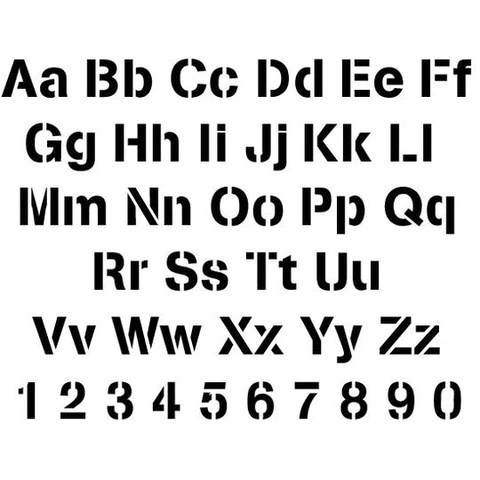 Letter Stencils Numbers Stencil Sets