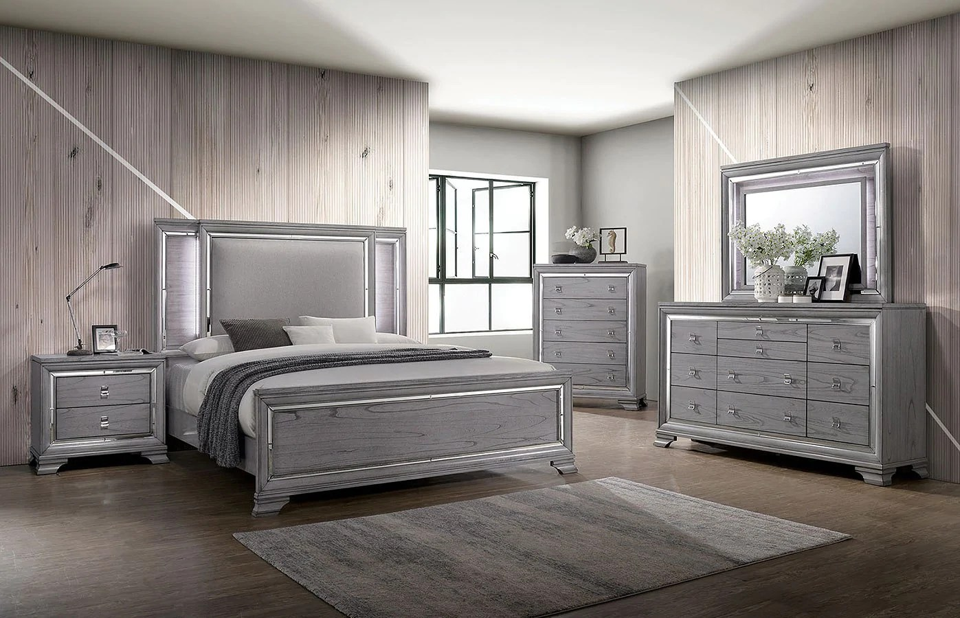 Alanis Light Grey Bedroom Collection Expo Furniture Gallery