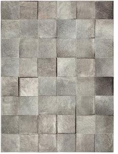 basico heather grey cowhide rug