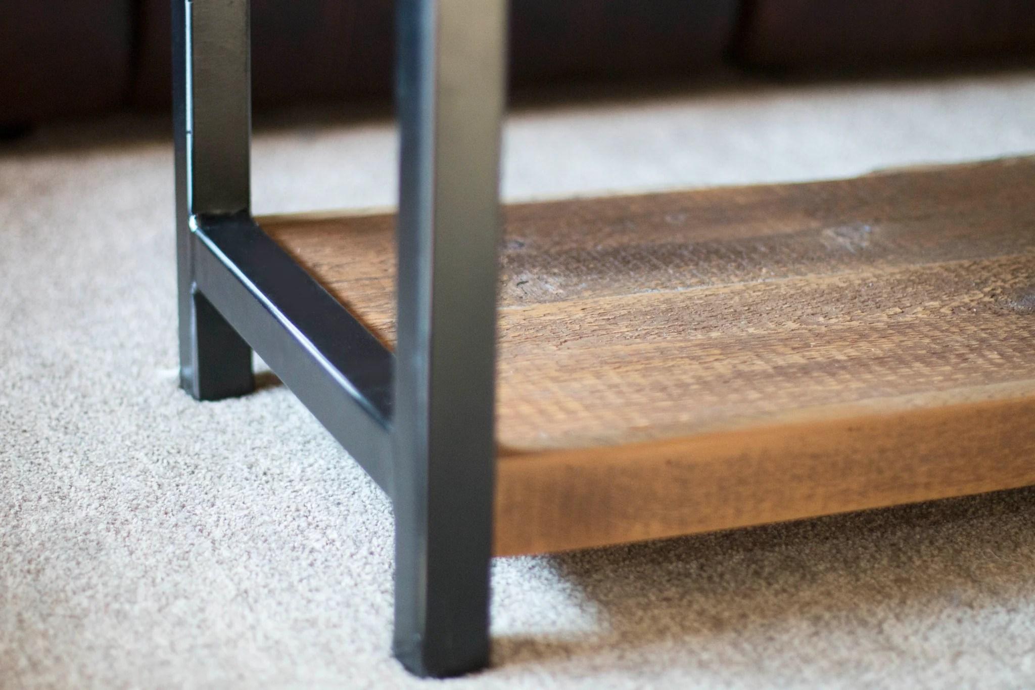 barn wood coffee table industrial
