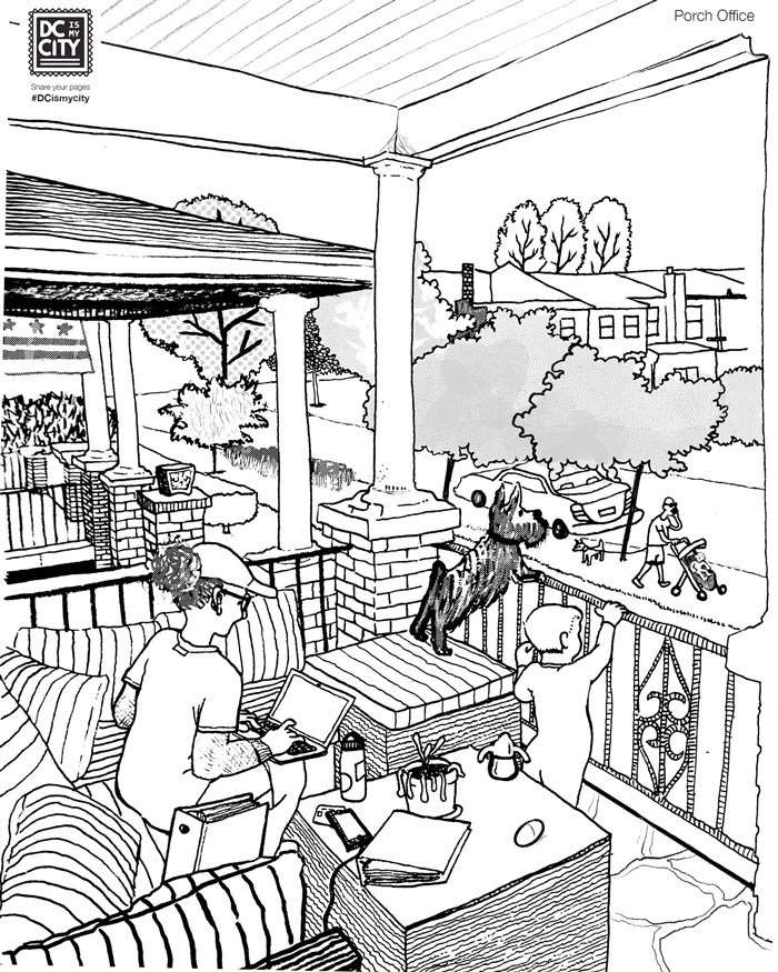 Free Coloring Pages Prints And Postcards From Washington Dc Dc Is My City Carmonamedina Studio