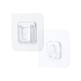 Home Double-sided Adhesive Wall Hooks Wall Hooks Hanger Strong Transparent Suction Cup Sucker Wall Storage Holder
