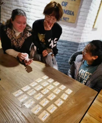 Playing Code Names with Confident English teachers