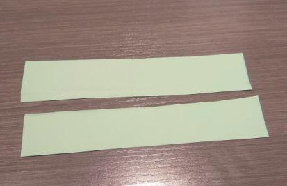 Extra strips cut in half