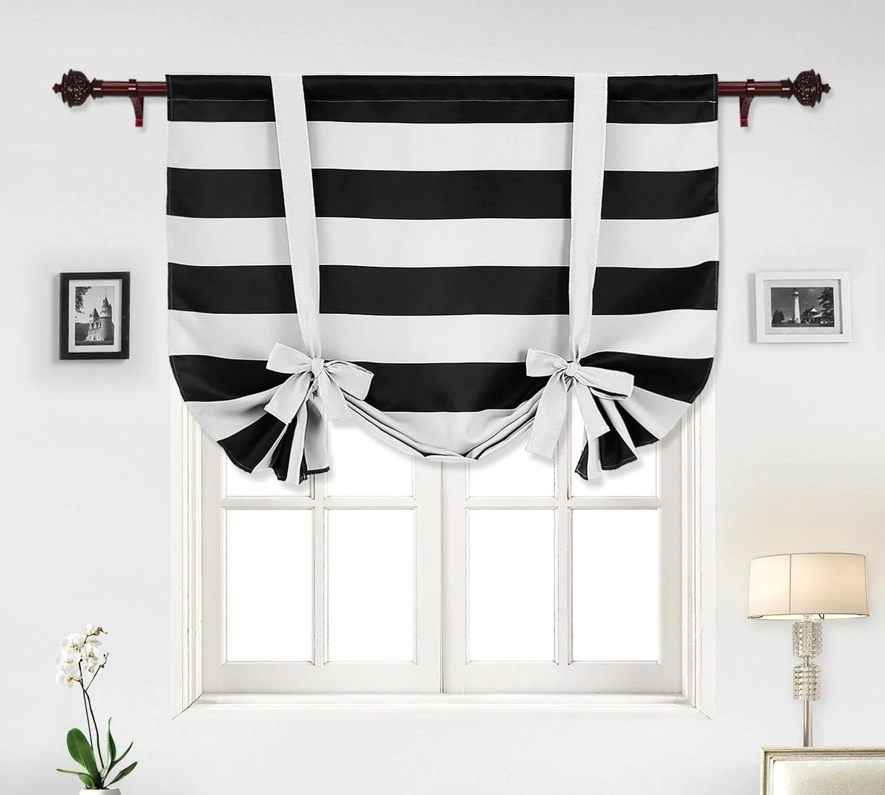 a modern take on tie up curtains