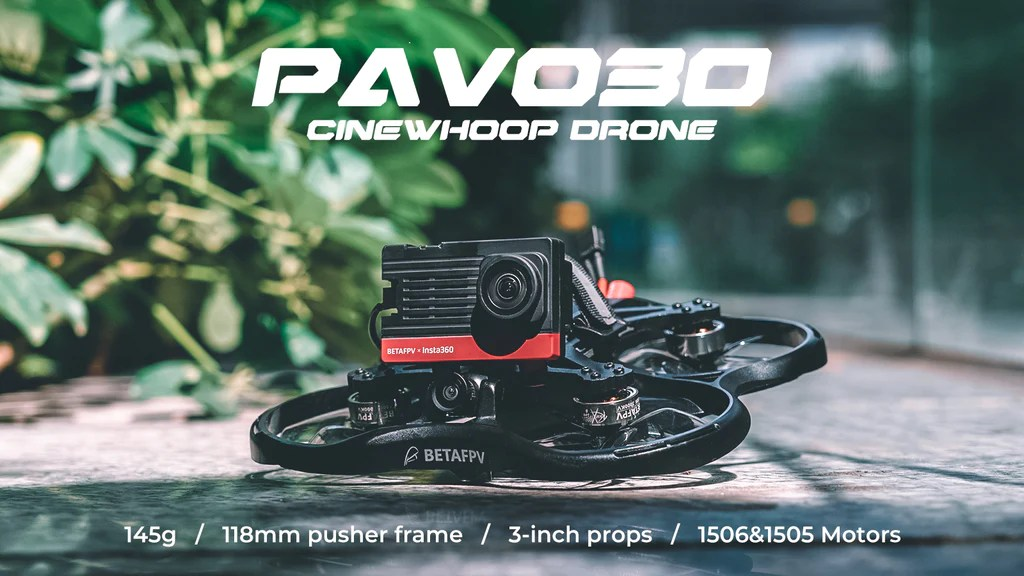 Pavo30 whoop drone 3inch pusher whoop drone