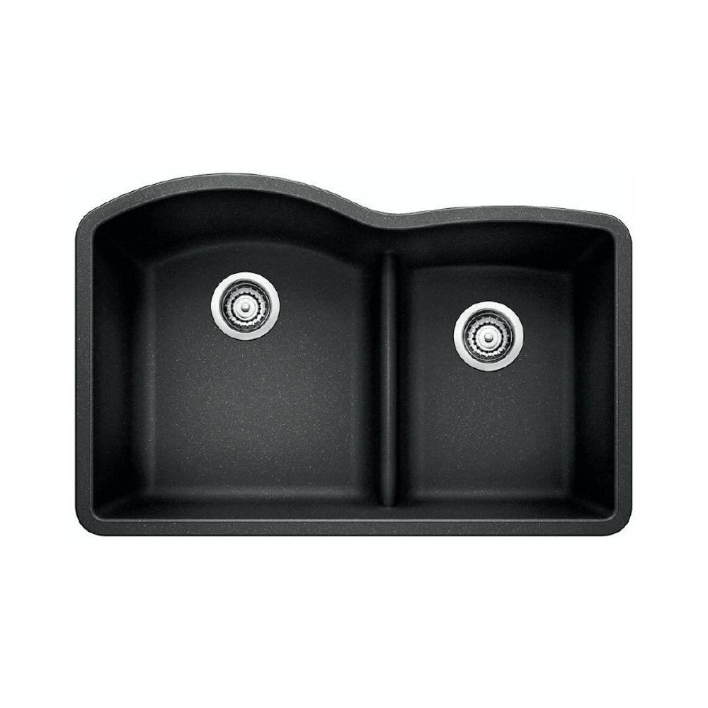 blanco 401572 diamond u 1 75 low divide double undermount kitchen sink