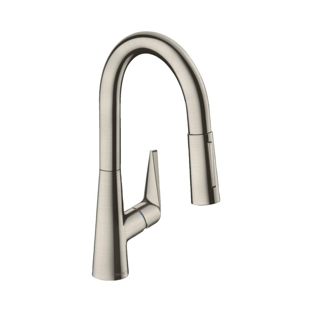 hansgrohe 72815801 talis s prep kitchen faucet steel optic