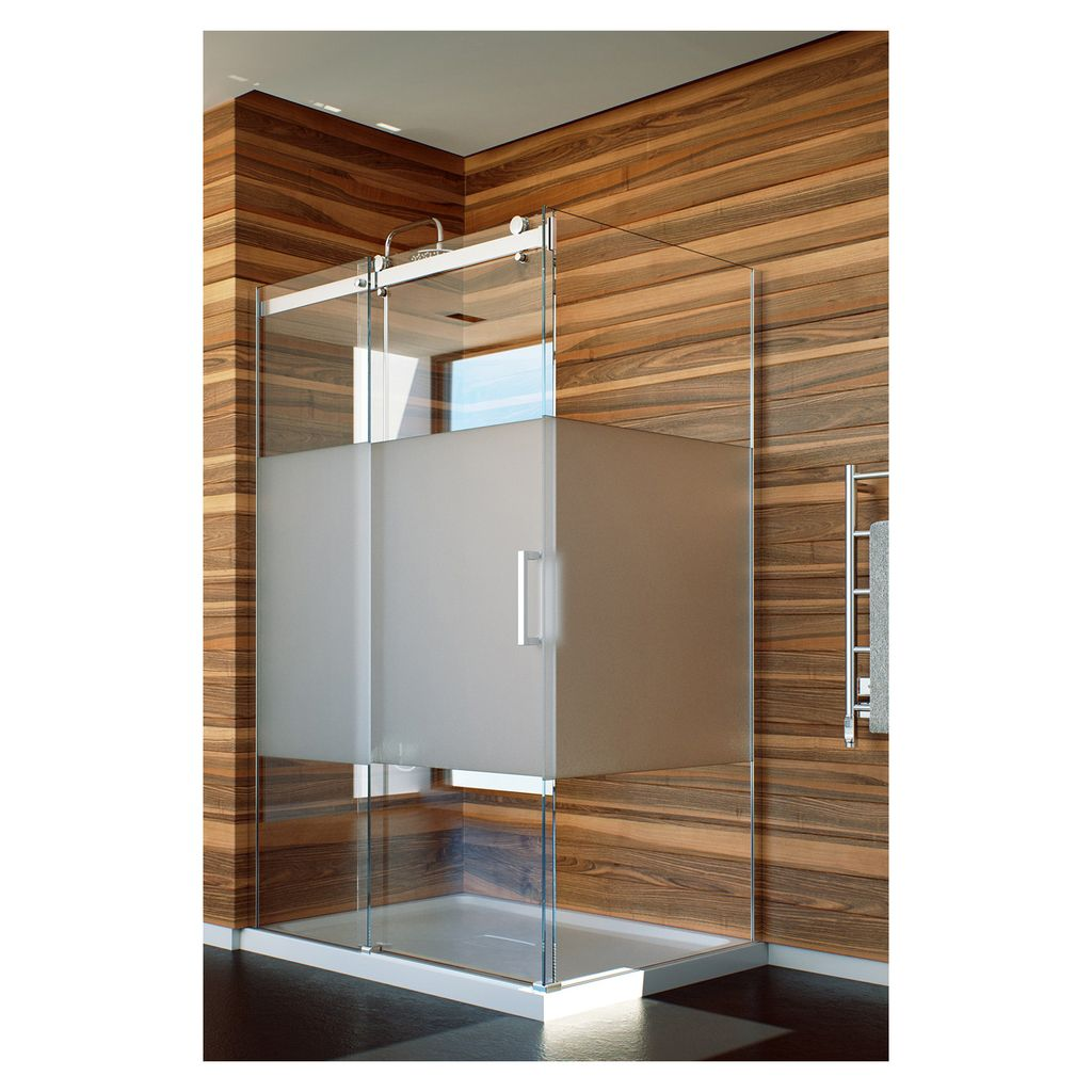 Slik Flow 4834 48 Flow Corner Shower Door Frosted Glass Chrome