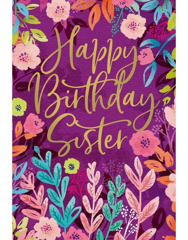 Happy Birthday Sister Card Cameron Rose