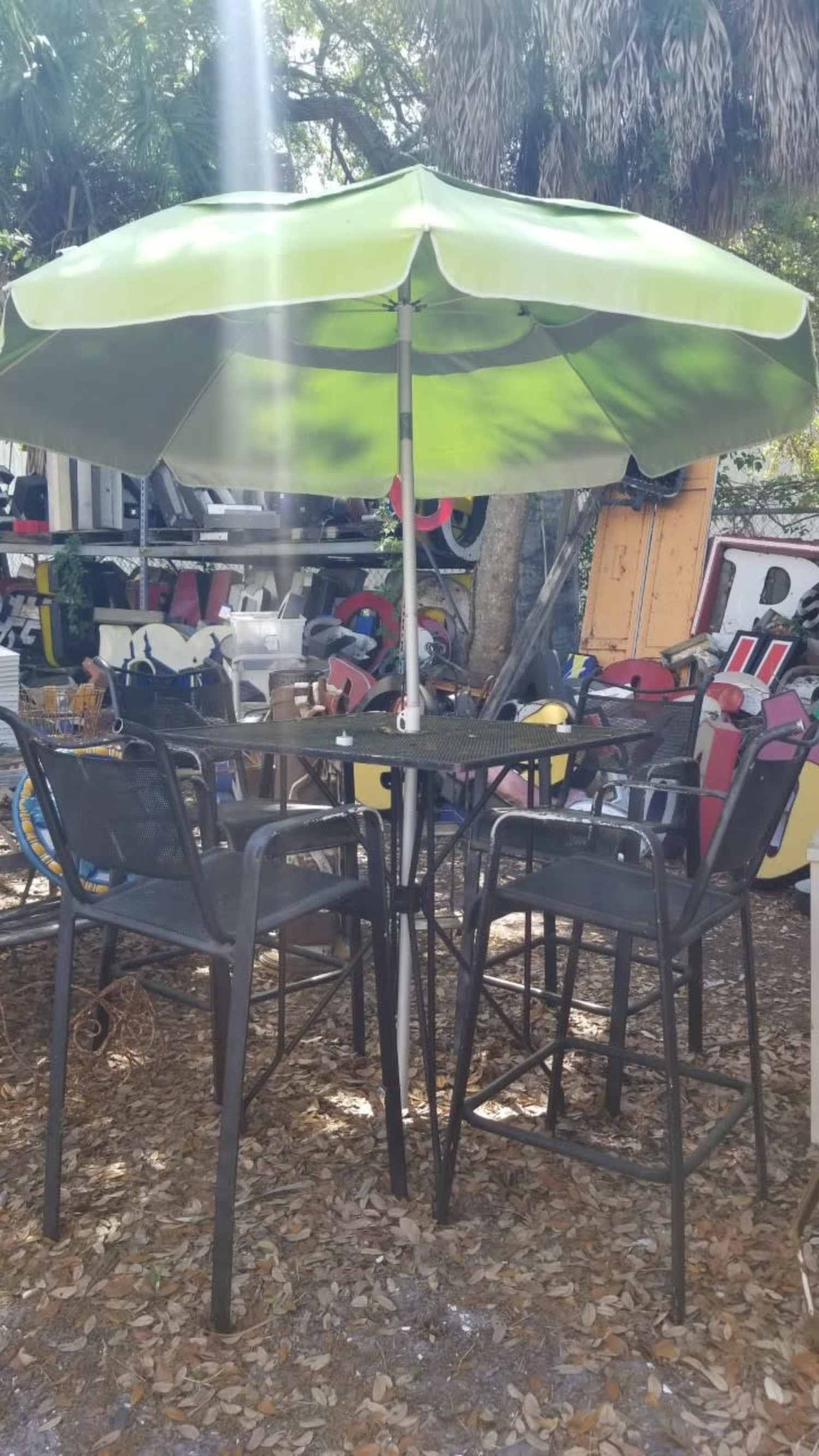 bar height patio table w chairs