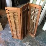 Small Tri Fold Wooden Shutters