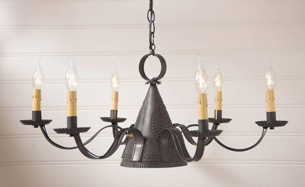 madison chandelier in kettle black