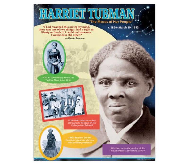 trend enterprises harriet tubman poster