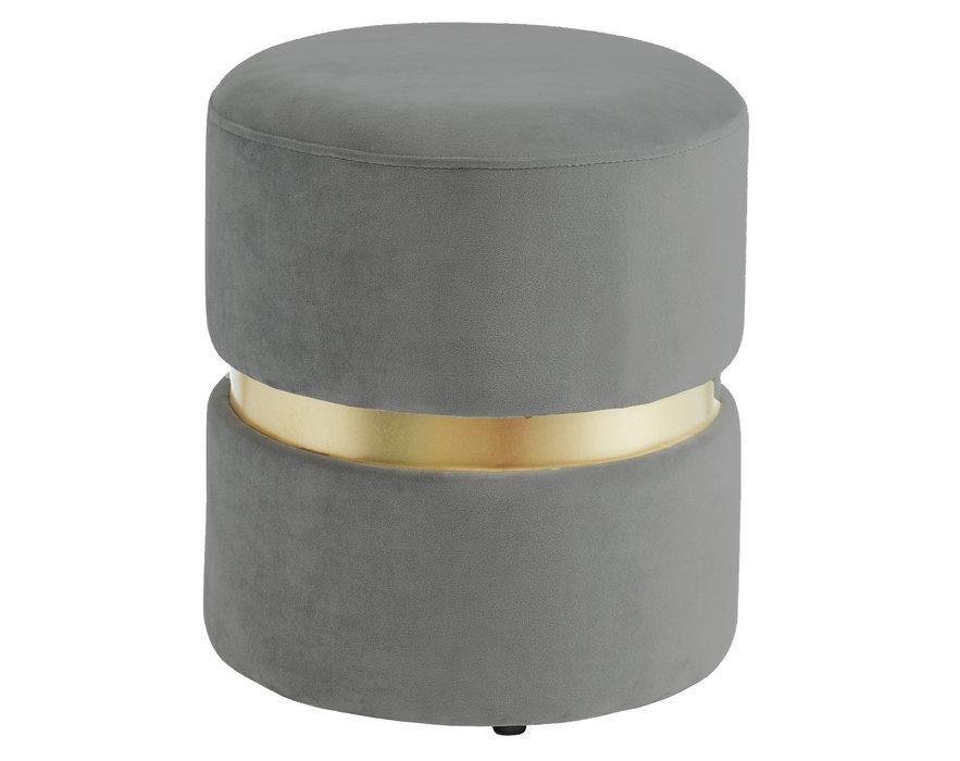 nspire pouf rond gris collection violet