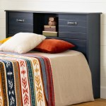 South Shore Asten Full Size Bookcase Headboard 54 With Doors Blueberry M2go
