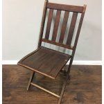 Vintage Wooden Folding Chair Heirloom Home
