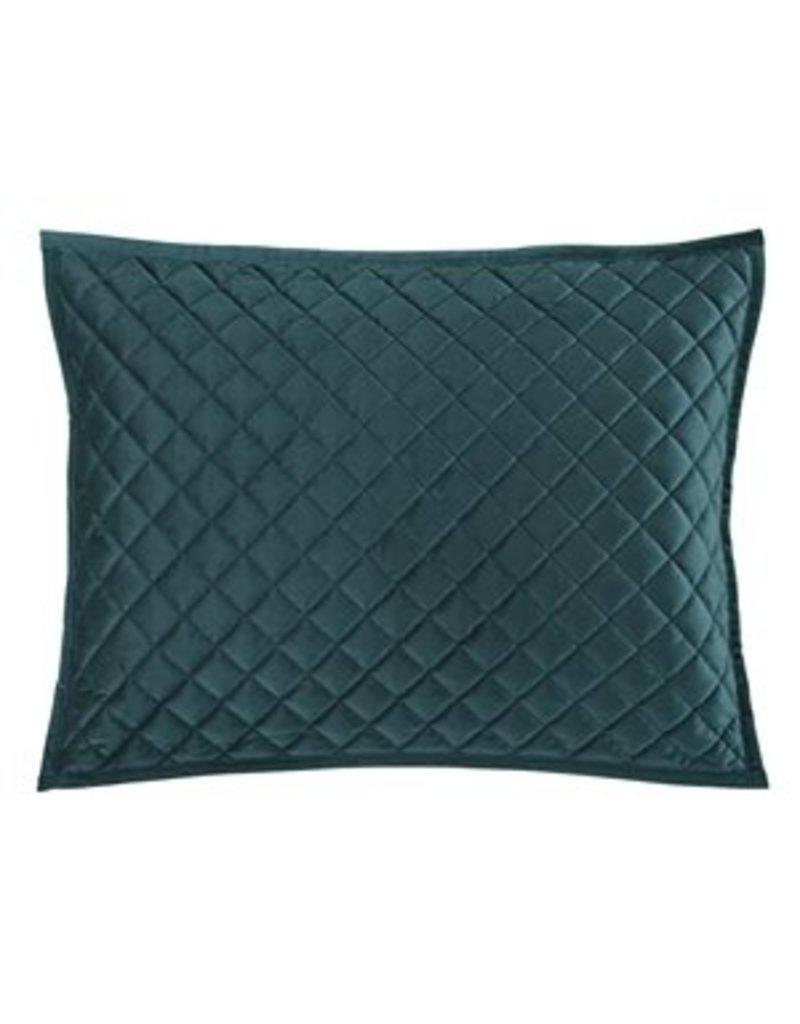teal velvet king pillow shams pair