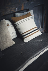 foundry pillow cover 25x25 beeswax stripe