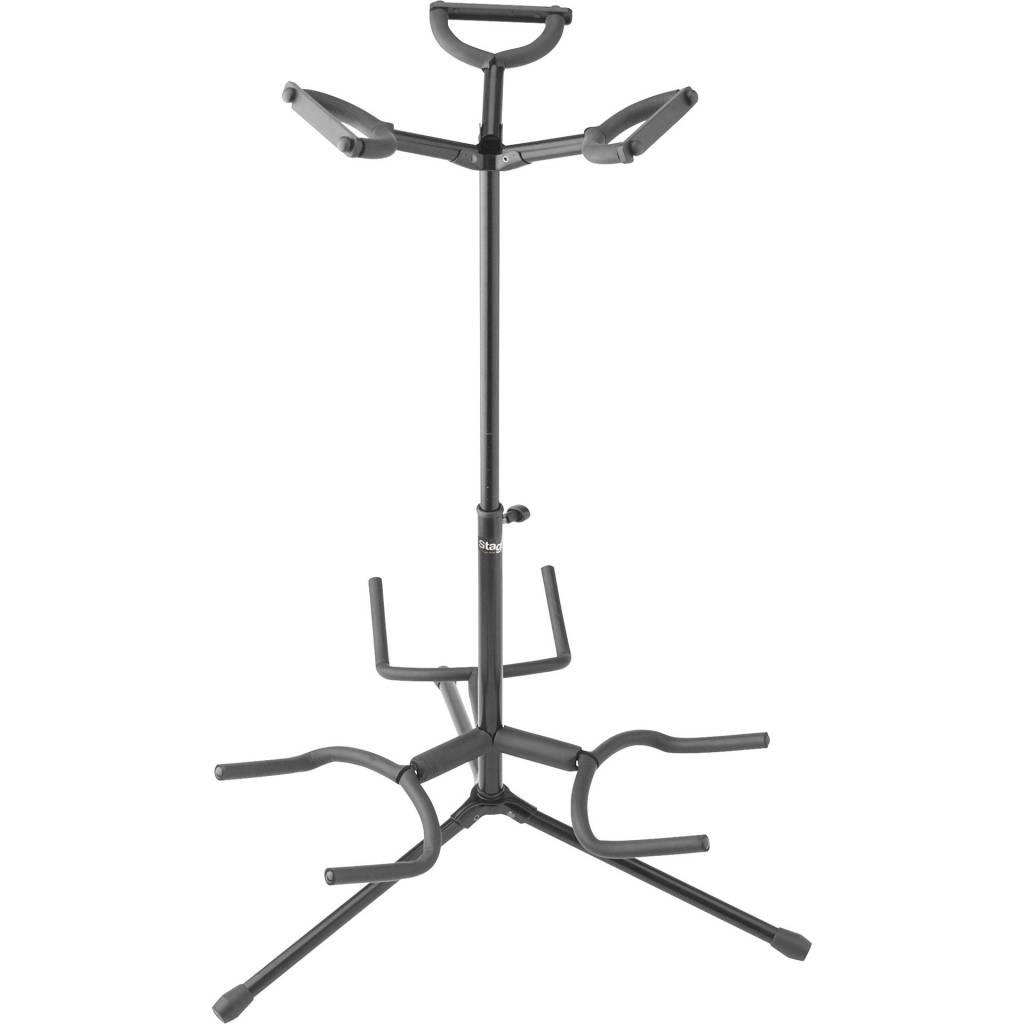 Stagg Triple Guitar Stand With Folding Legs