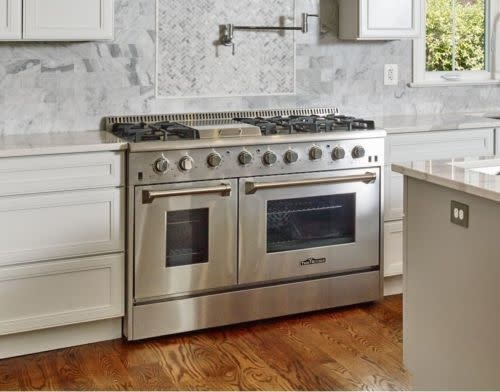 thor 48 slide in convection gas range stainless