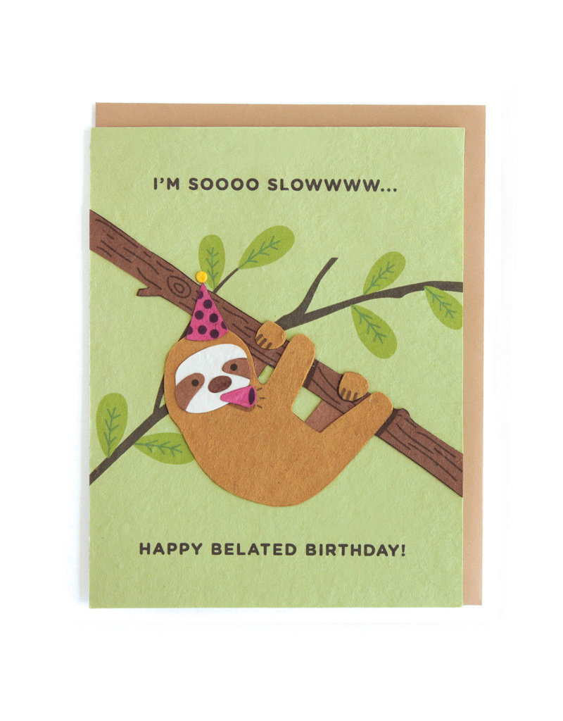 Sloth Belated Birthday Card From Humankind Fair Trade Humankind Fair Trade