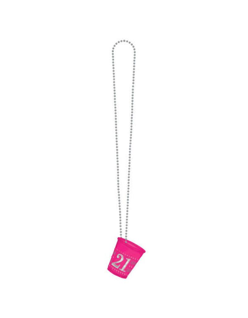 Pink Shot Glass Necklace 21st Birthday Johnnie Brocks Dungeon