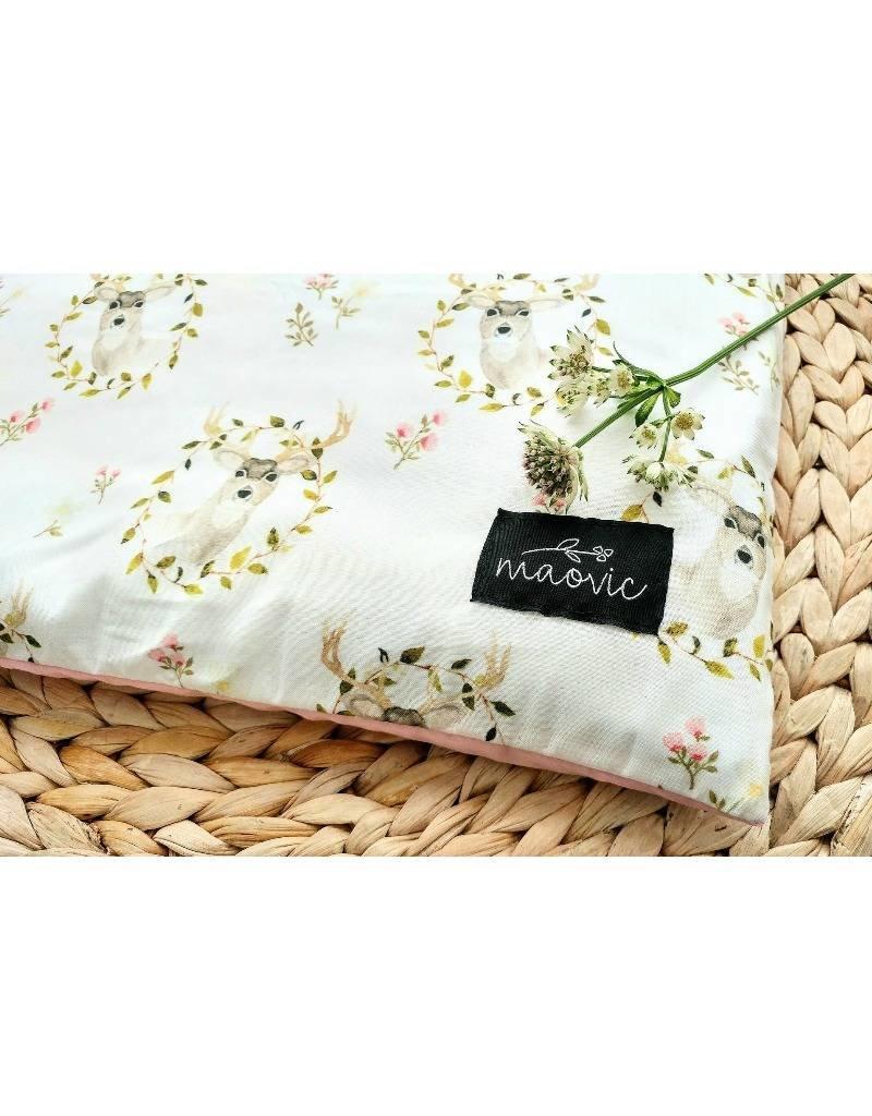 maovic pillow for babies organic buckwheat deer and flower