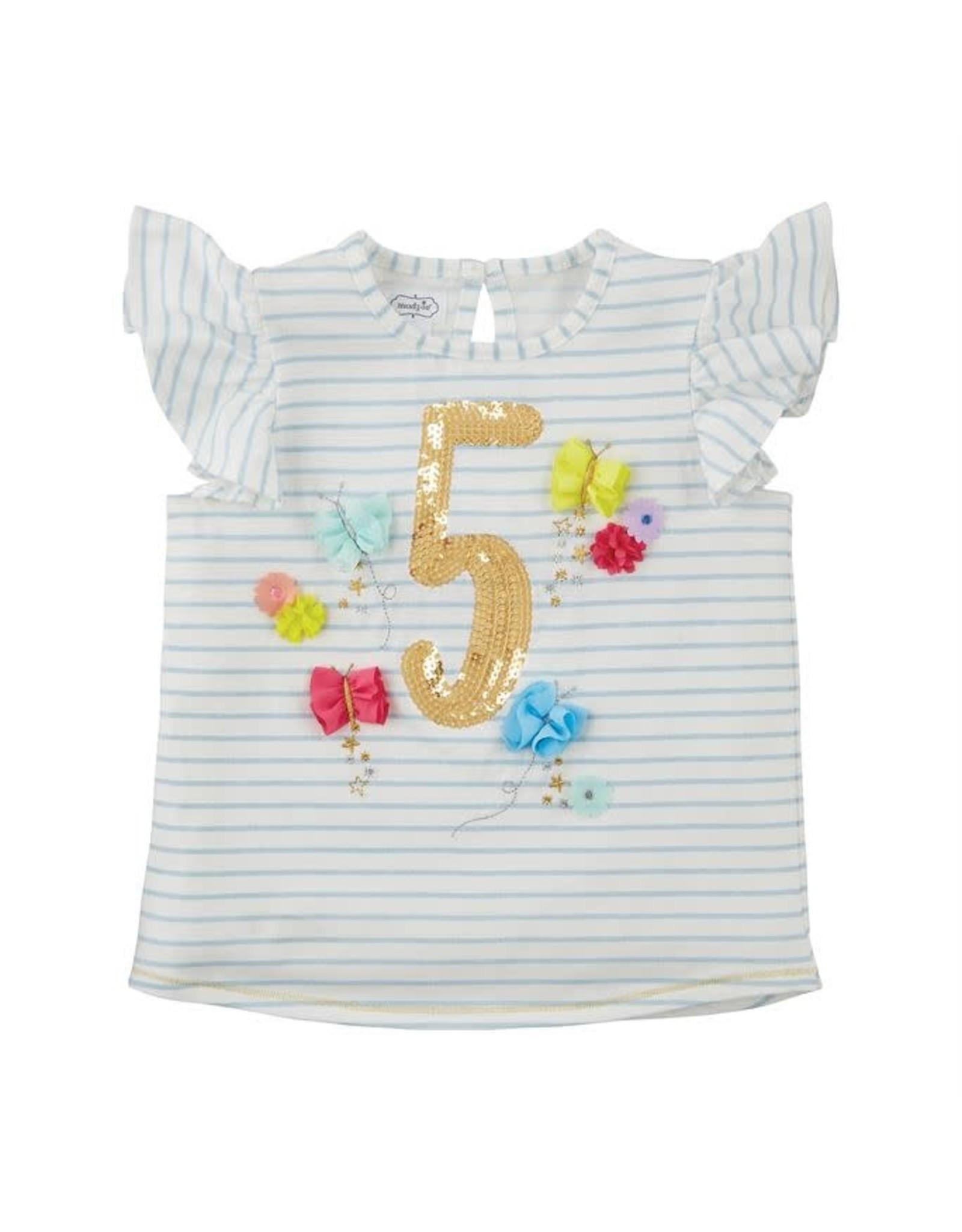 Mudpie Mud Pie Five Birthday Shirt 5t Freckles Children S Boutique