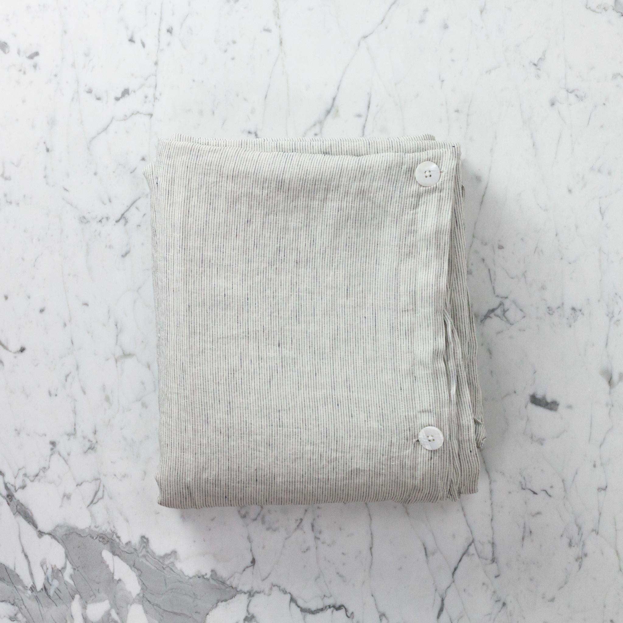 Linen Duvet Cover King Pinstripe 108 X 96 The Foundry Home Goods