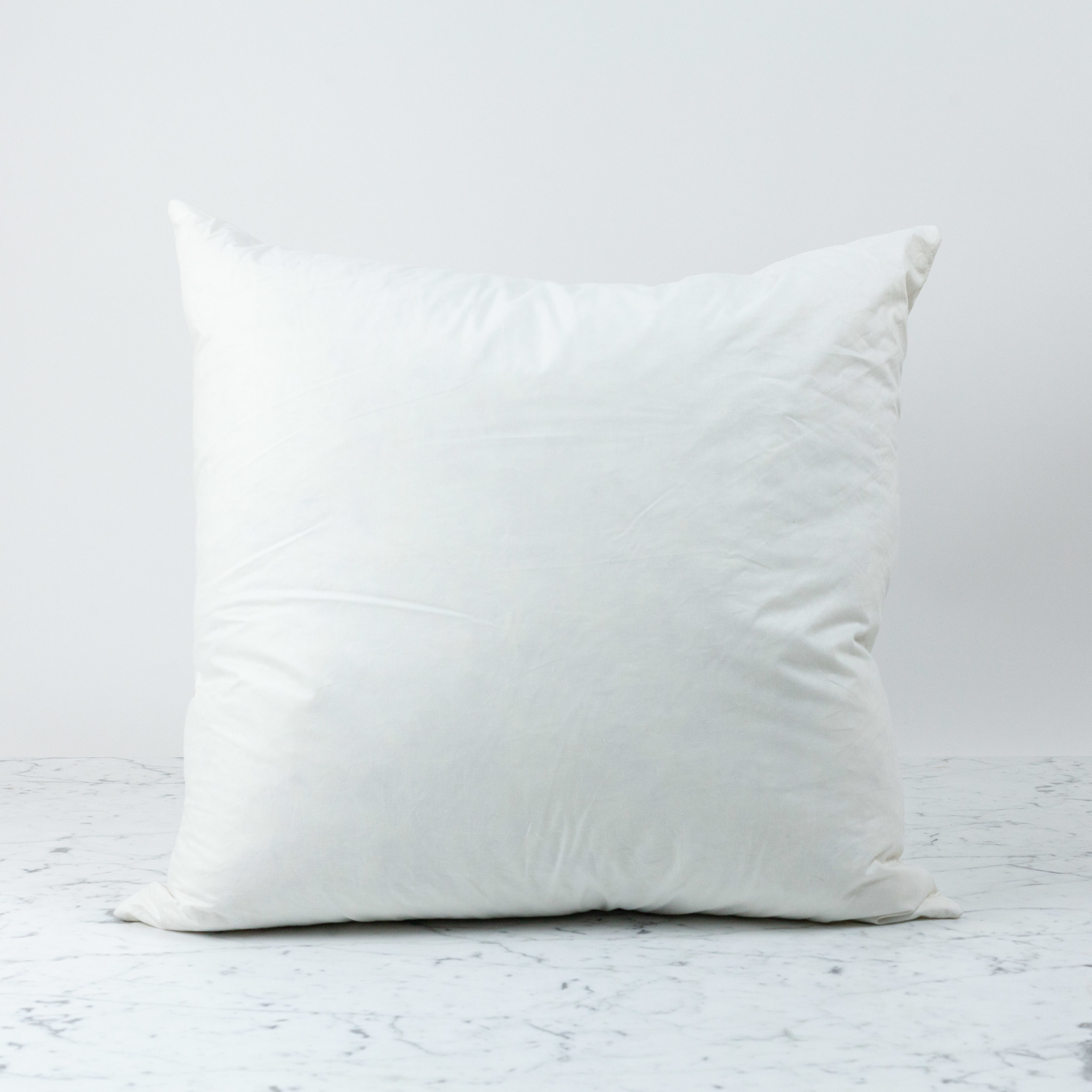 down feather pillow insert only 24 x 24