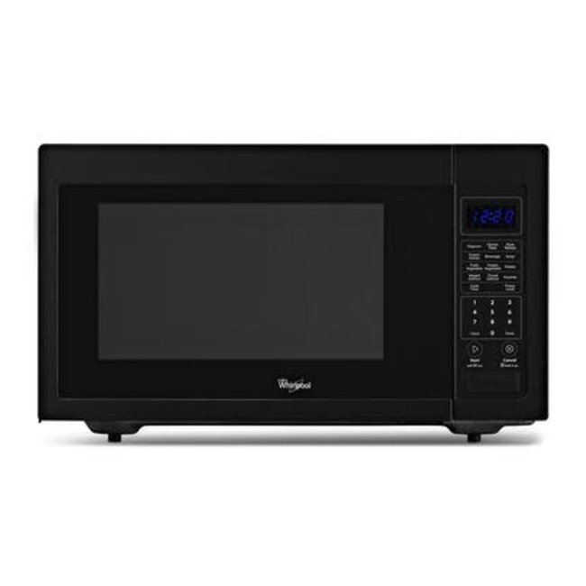whirlpool 1 6 cu ft countertop microwave in black built in capable with sensor cooking