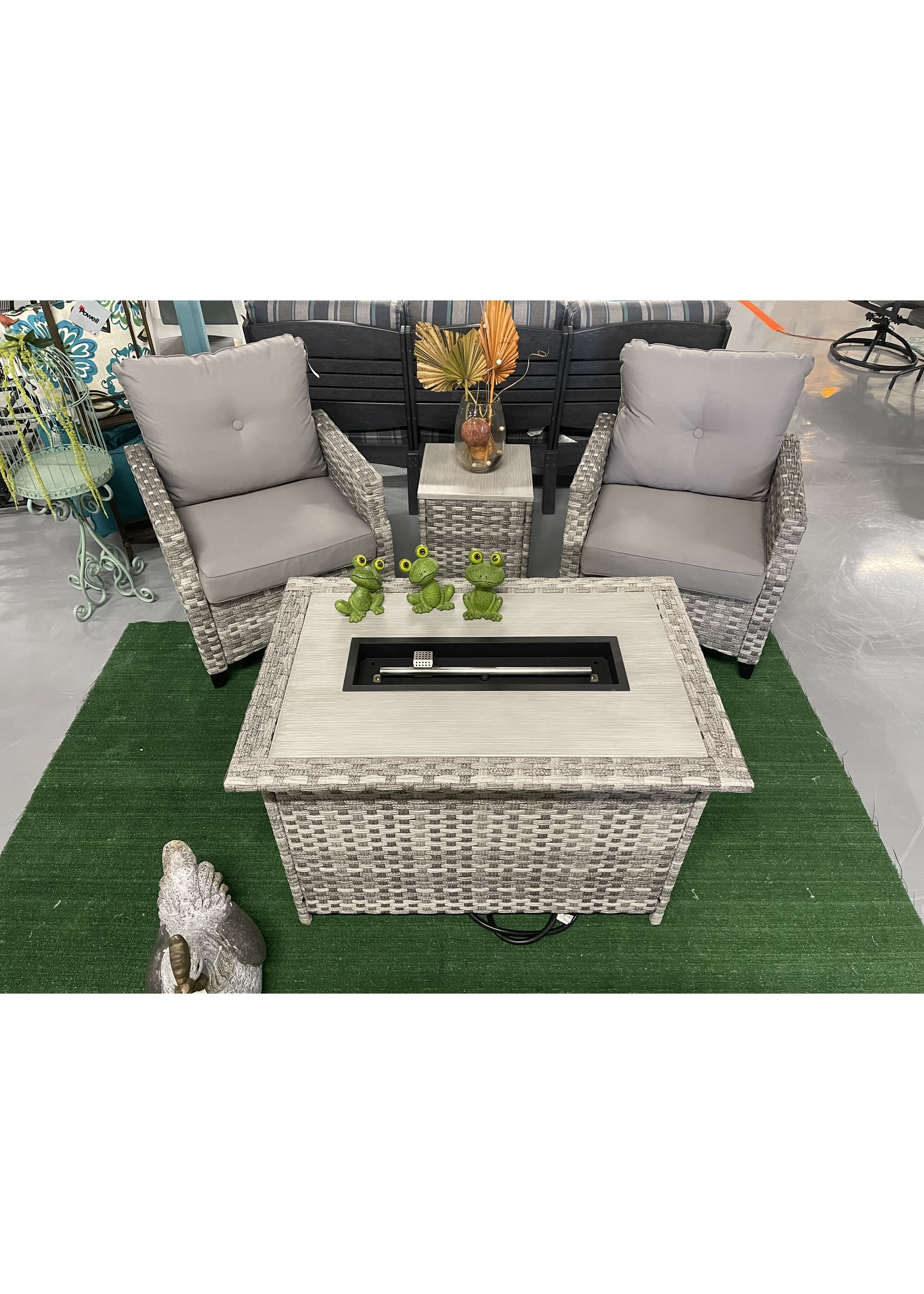 kingston casual costa mesa 4 pc patio set gray mix
