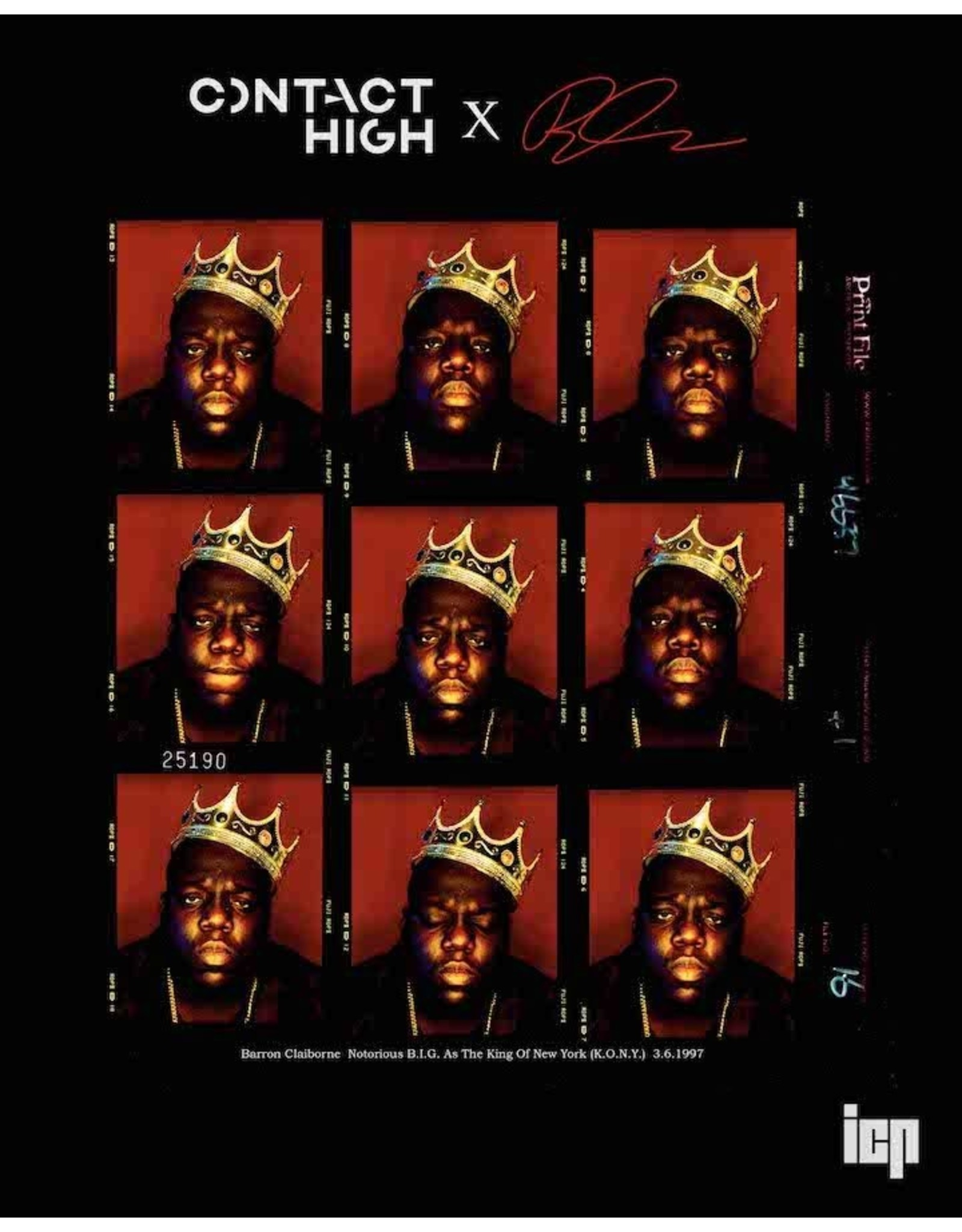 notorious b i g the king of new york contact sheet print