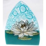White Lotus Fused Glass Night Light Global Gifts