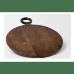 Acacia Wood Round Cutting Board 17 7 Dark Brown The Good Tree