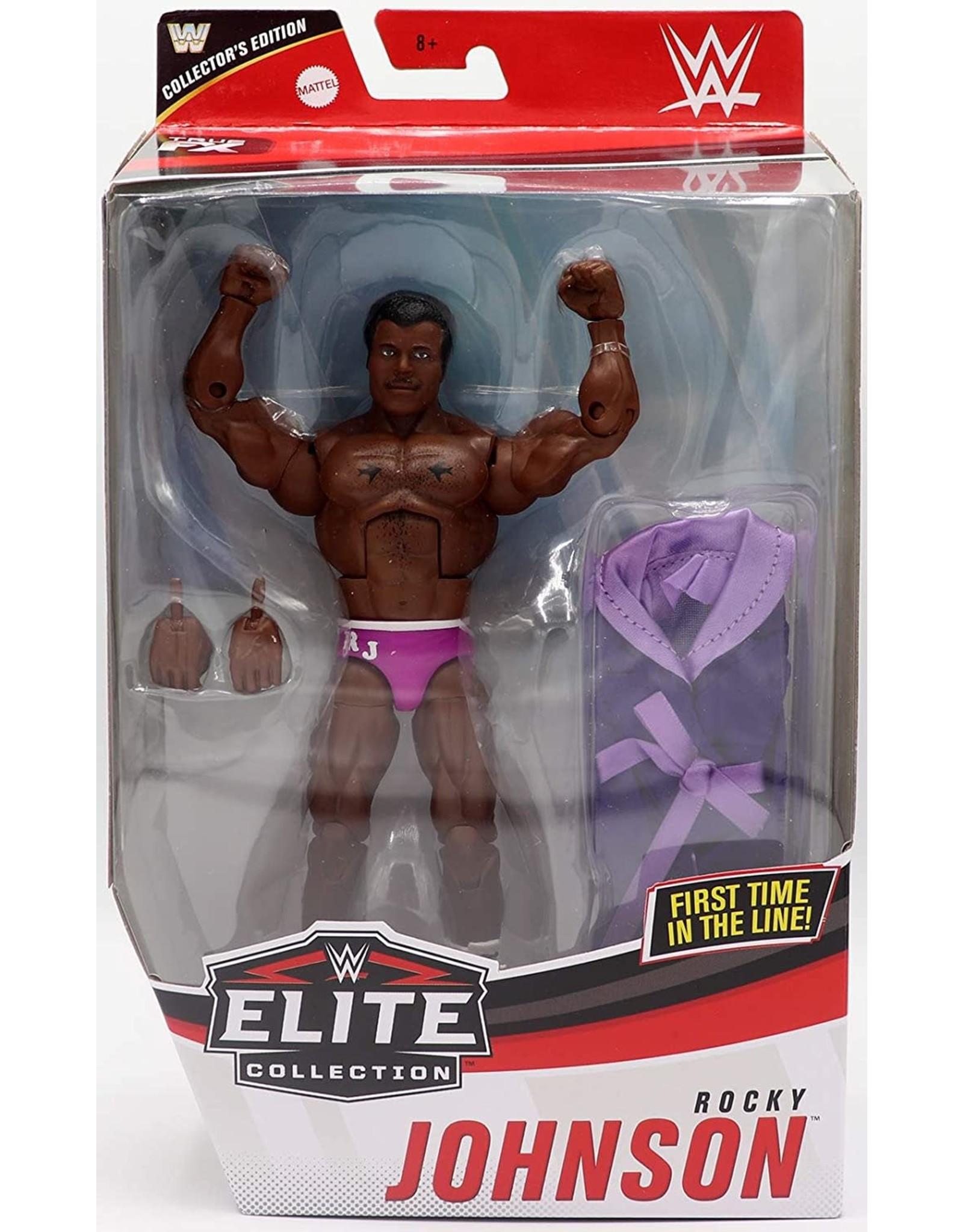 Rocky Johnson Wwe Elite 80 Exclusive Mattel Wrestling Action Figure Big Bang Toys
