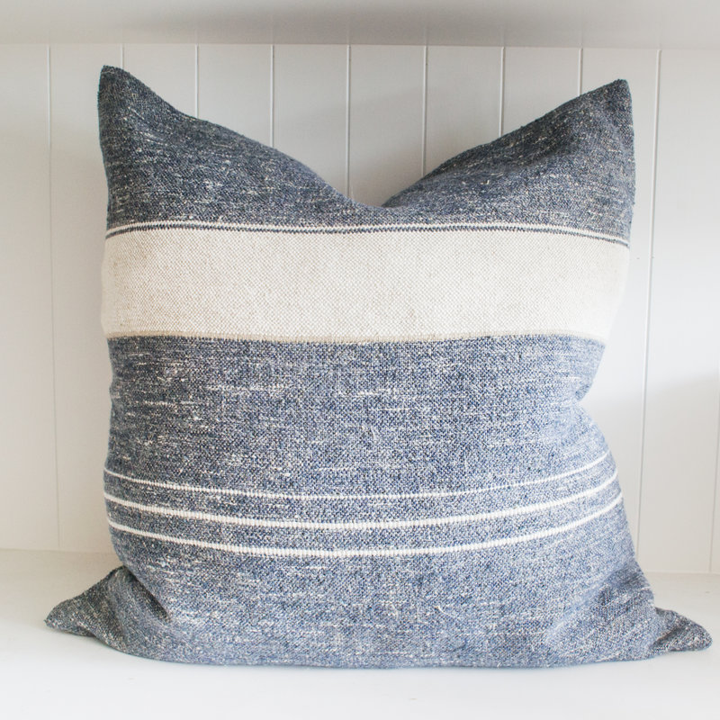 25 x25 re linen pillow silver with