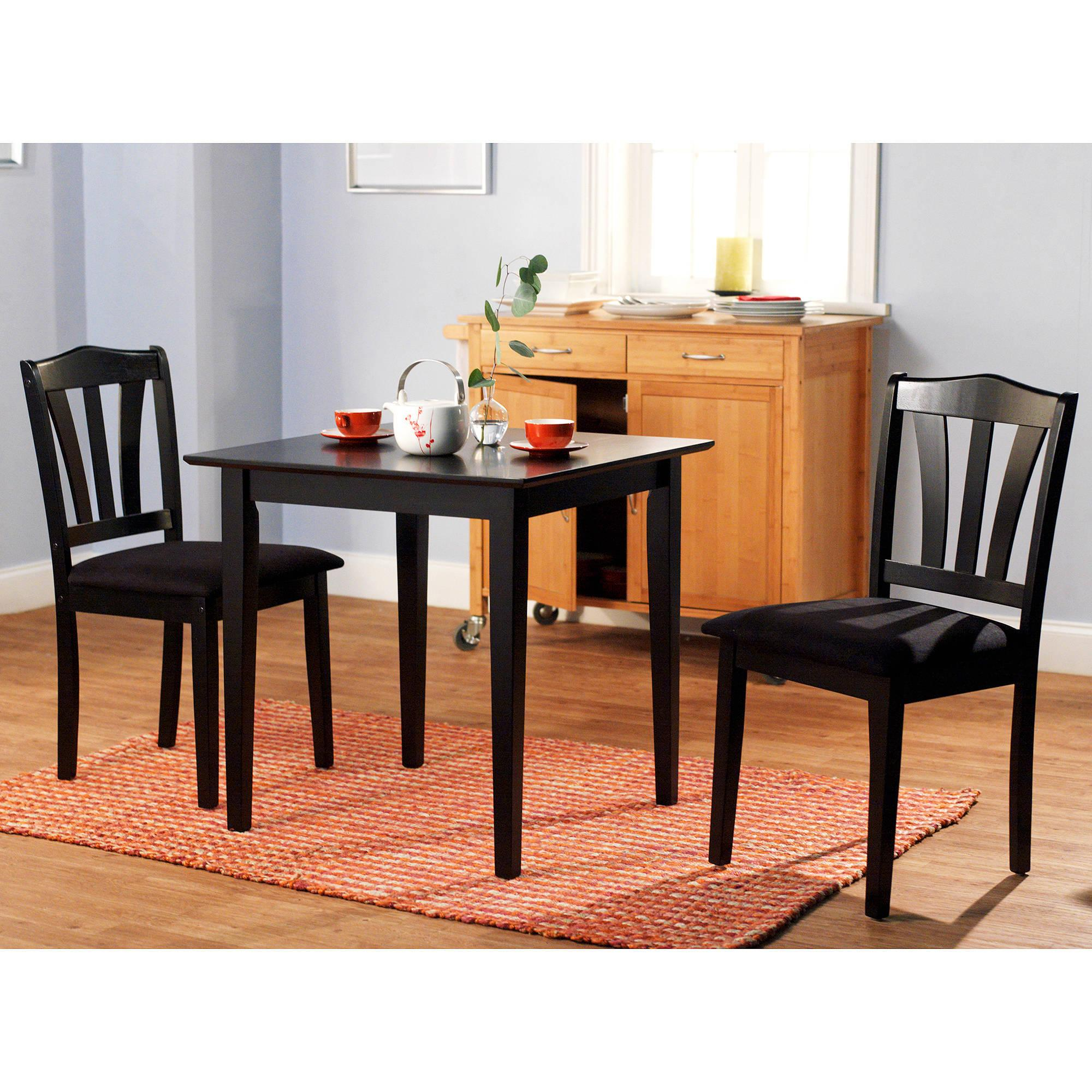 3 Piece Dining Set Table 2 Chairs Kitchen Room Wood