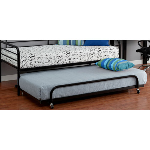 New Trundle Guest Kids Bed Metal Frame Twin Size