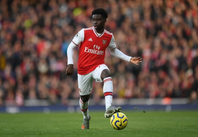 Bukayo Saka could miss out with a hamstring injury. (Photo by Shaun Botterill/Getty Images)