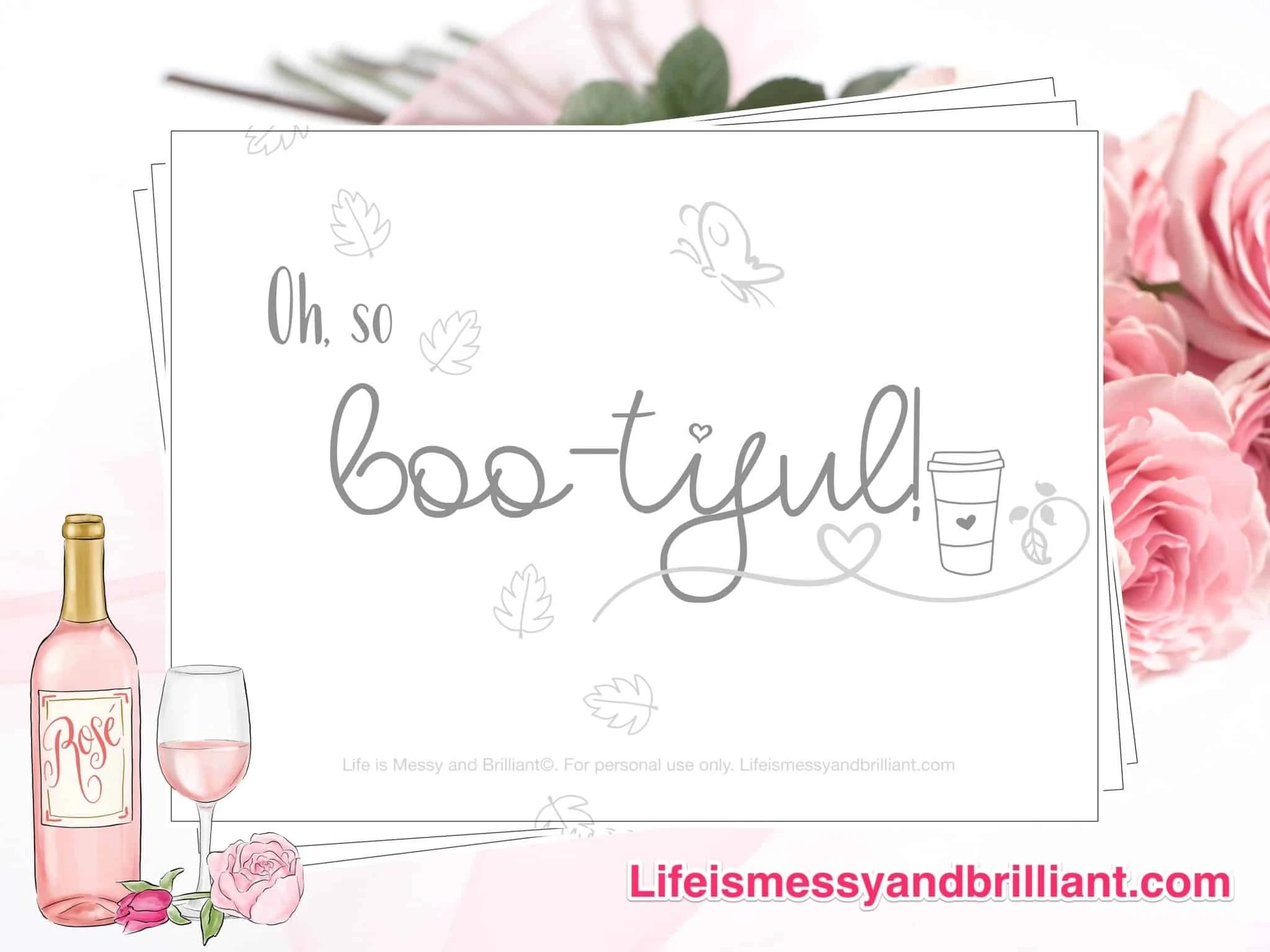 Free Oh So Boo Tiful Halloween Lettering Printable