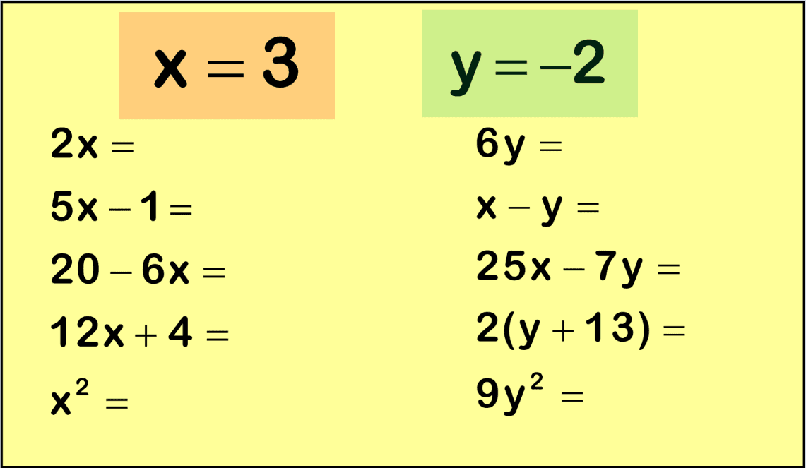 Simultaneous Equations Worksheet Practice Questions