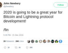 Core Developer Says 2020 is a Big Year For Bitcoin's Scalability, Usability, and Adoption