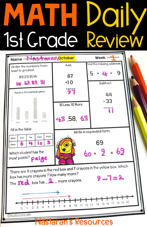 Halloween Math Worksheets Daily Math Review Gt Nastaran S