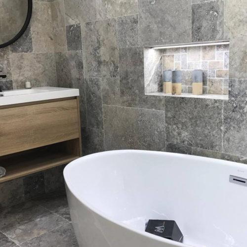 travertin de salle de bain apex pierre
