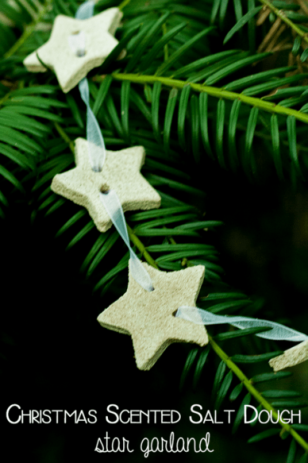 Christmas scented salt dough garlands from Rainy Day Mum